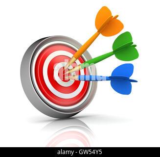 bullseye target  3d illustration - Stock Photo