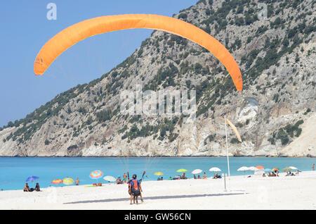 Myrtos beach kefalonia - Stock Photo
