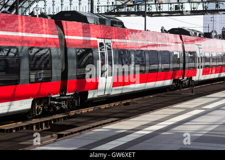 Regional Express train at central station in Berlin, Germany - Stock Photo