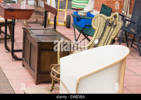 Used second hand furniture on sale on a UK high street ...