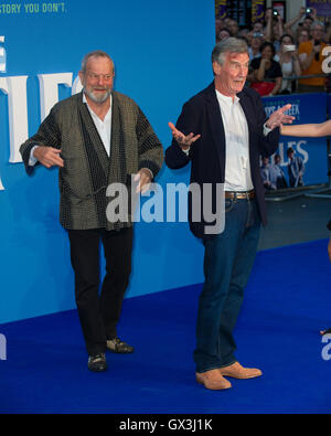 London, UK. 15th September, 2016. Terry Gilliam and Michael Palin attends the World premiere of 'The Beatles: Eight - Stock Photo