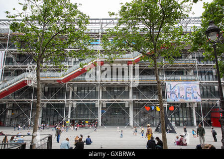 The Pompidou centre in Paris, France - Stock Photo
