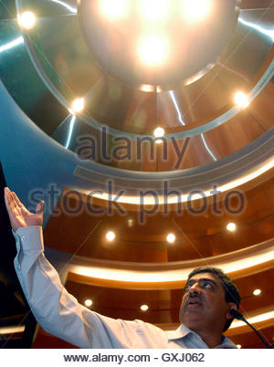 President, Chief Executive Officer and Managing Director of Infosys Technologies, Nandan M. Nilekani, presents results - Stockfoto