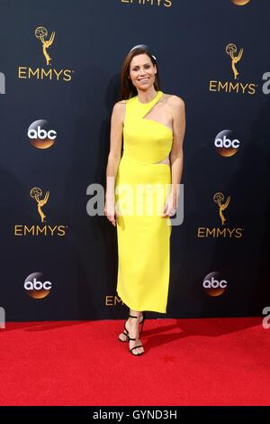 Los Angeles, CA, USA. 18th Sep, 2016. Minnie Driver at arrivals for The 68th Annual Primetime Emmy Awards 2016  - Stock Photo