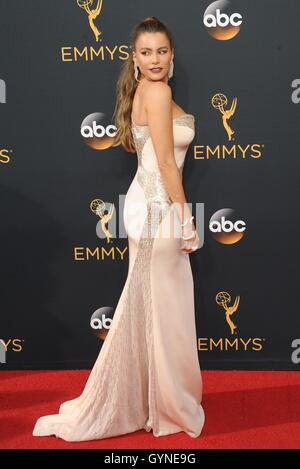 Los Angeles, CA, USA. 18th Sep, 2016. Sofía Vergara at arrivals for The 68th Annual Primetime Emmy Awards 2016  - Stock Photo