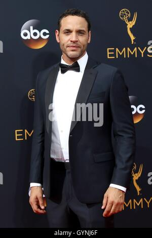 Los Angeles, CA, USA. 18th Sep, 2016. Daniel Sunjata at arrivals for The 68th Annual Primetime Emmy Awards 2016 - Stock Photo