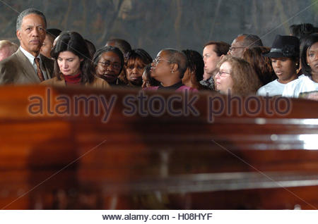 Mourners pay their respects to civil rights pioneer Rosa Parks as her body lies in honor in the Capitol Rotunda - Stock Photo