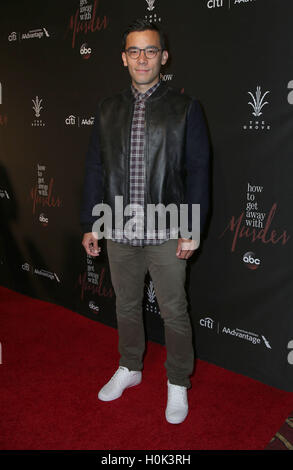 Los Angeles, California, USA. 20th Sep, 2016. 20 September 2016 - Los Angeles, California - Conrad Ricamora . ABC - Stock Photo