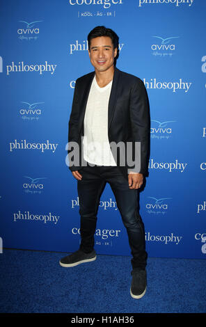 West Hollywood, Ca. 22nd Sep, 2016. Mario Lopez attends the 'Welcome to the Age of Cool' event hosted by Philosophy - Stock Photo