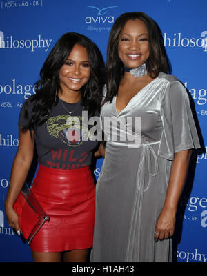 West Hollywood, Ca. 22nd Sep, 2016. Christina Milian, Garcelle Beauvais attends the 'Welcome to the Age of Cool' - Stock Photo