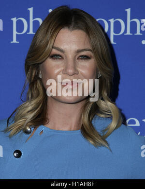 West Hollywood, Ca. 22nd Sep, 2016. Ellen Pompeo attends the 'Welcome to the Age of Cool' event hosted by Philosophy - Stock Photo