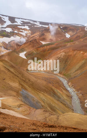 Kerlingarfjoll geothermal area in the highlands of Iceland - Stock Photo
