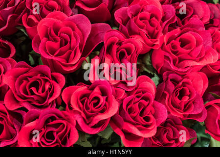 Silk Flowers , Roses,  Old City Center Nice, Vieille Nice, Alpes Maritimes, Provence, French Riviera, Mediterranean, - Stock Photo
