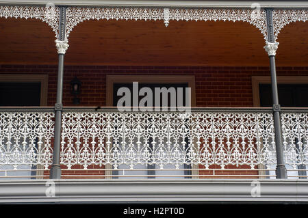 Architectural detail of a house in the Victoria region of Australia - Stock Photo