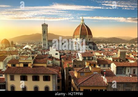Magnificent basilica of Santa Maria del Fiore in Florence, Italy - Stockfoto