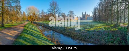 King's College Chapel, Cambridge University, The Backs, Cambridge, Cambridgeshire, England, UK - Stock Photo