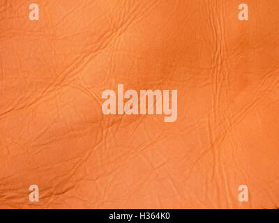 Brown wrinkled genuine leather background - Stock Photo