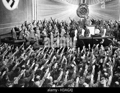 An analysis of hitlers enabling act in the kroll opera house in berlin