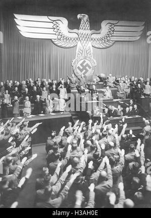 an analysis of hitlers enabling act in the kroll opera house in berlin The formal title for the enabling act was the 'law to remedy the distress of  people and reich' hitler had been appointed chancellor on january 30 1933  however, he had no intention  the kroll opera house was used it was a  convenient.