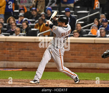 Flushing, New York, USA. 5th Oct, 2016. Conor Gillaspie (Giants) MLB : Conor Gillaspie of the San Francisco Giants - Stockfoto