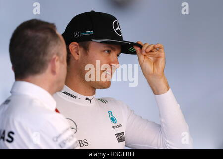 Suzuka, Japan. 8th Oct, 2016. Nico Rosberg (GER) F1 : Japanese Formula One Grand Prix at Suzuka Circuit in Suzuka, - Stockfoto
