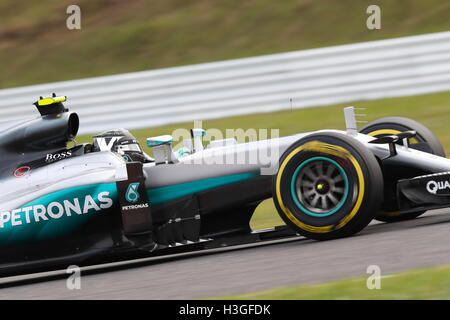 Suzuka, Japan. 8th Oct, 2016. Nico Rosberg (GER) F1 : Japanese Formula One Grand Prix Qualifying at Suzuka Circuit - Stockfoto