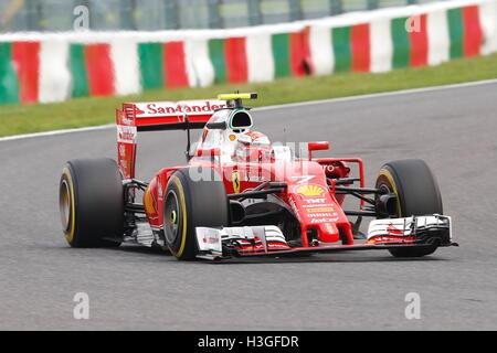 Suzuka, Japan. 8th Oct, 2016. Kimi Raikkonen (FIN) F1 : Japanese Formula One Grand Prix Qualifying at Suzuka Circuit - Stockfoto