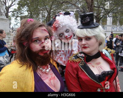 London, UK. 8th October, 2016. World Zombie Day 2016, London, UK Credit:  Nastia M/Alamy Live News - Stock Photo