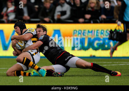 Barnet Copthall, London, UK. 09th Oct, 2016. Aviva Premiership Rugby. Saracens versus Wasps. Rob Miller of Wasps - Stockfoto