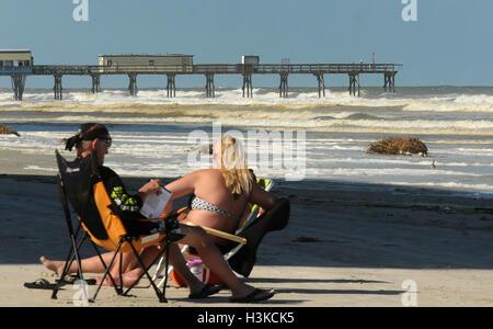 Daytona Beach Florida Usa 09th Oct 2016 The Heavily Damaged Stock Photo Royalty Free Image