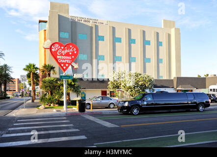 Cupids Wedding Chapel, Downtown Las Vegas - Stock Photo