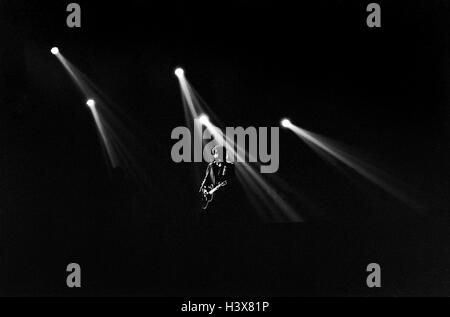 FILE PIC: Bob Dylan performs live at Wembley Arena London England UK on 8th June 1989. Bob Dylan wins Nobel Prize - Stock Photo