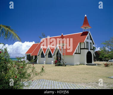 Mauritius, Cap Malheureux, 'Eglise de Cap Malheureux', view, Indian ocean, Maskarenen, island state, island, the - Stock Photo