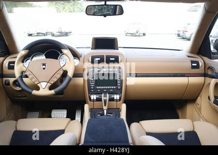 car porsche gemballa cayenne cockpit dashboard no property release stock photo royalty free. Black Bedroom Furniture Sets. Home Design Ideas
