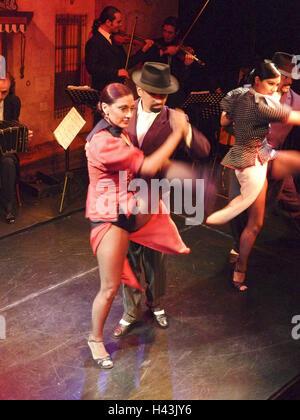 Argentina, Buenos Aires, La Boca, tango compensating roller, - Stock Photo