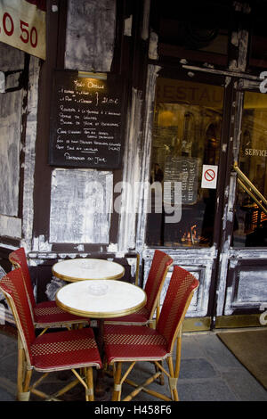 Corner bar, accommodation Saint Gervais, Paris, France, - Stock Photo