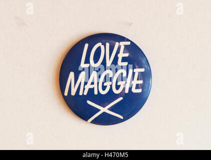 'Love Maggie X' Margaret Thatcher General Election. HOMER SYKES - Stockfoto