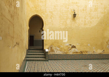 Africa, Morocco, Meknes, Mausoleum of Moulay Ismail, - Stock Photo
