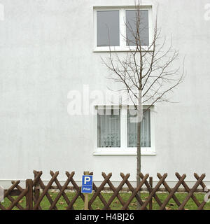 House facade in the Ruhr region, - Stock Photo