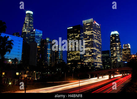Night Photography: Downtown Los Angeles, California - Stock Photo