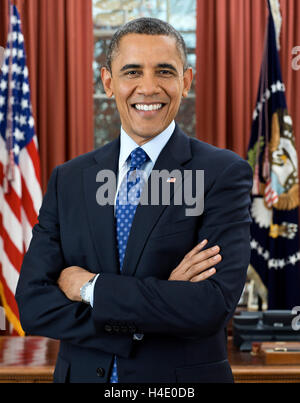 Barack Obama. Official White House portrait of Barack Obama, the 4th President of the USA, December 2012 - Stock Photo