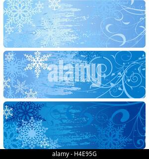 Winter Banners - Stockfoto