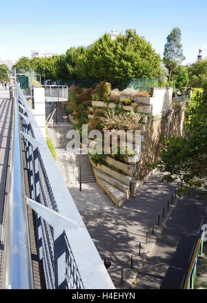 Paris France Promenade Plantée, rue Montgallet - Stock Photo