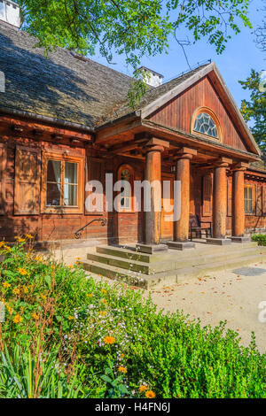 Village house with a pond in the front garden england uk stock photo royalty free image - Traditional polish houses wood mastership ...