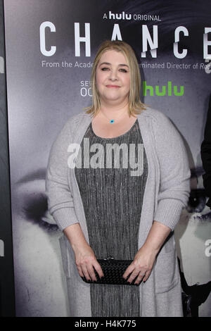 Los Angeles, Ca, USA. 17th Oct, 2016. Alexandra Cunningham attends the premiere of Hulu's 'Chance' at Harmony Gold - Stock Photo