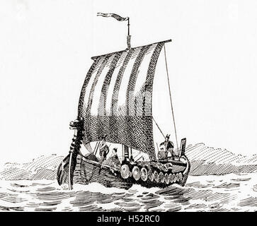 A Norman ship. - Stock Photo