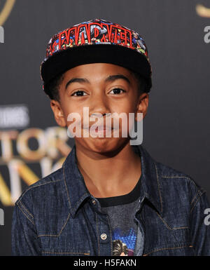Hollywood, California, USA. 20th Oct, 2016. Miles Brown arrives for the premiere of the film 'Doctor Strange' at - Stock Photo