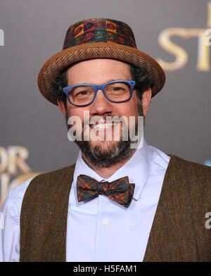 Hollywood, California, USA. 20th Oct, 2016. Michael Giacchino arrives for the premiere of the film 'Doctor Strange' - Stock Photo