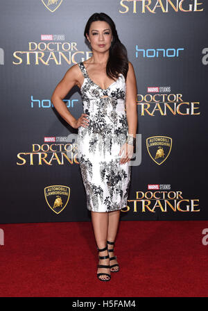 Hollywood, California, USA. 20th Oct, 2016. Ming-Na Wen arrives for the premiere of the film 'Doctor Strange' at - Stock Photo
