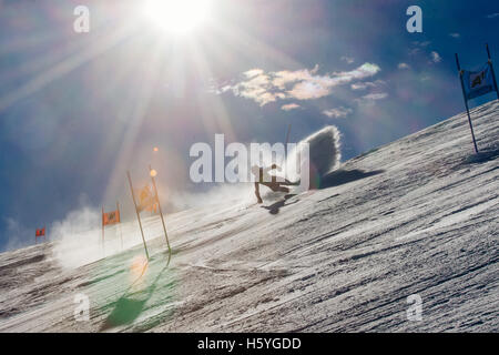 Solden, Austria. 22nd Oct, 2016. Sofia Goggia of Italy competes during the first run of FIS World Cup Ladies Giant - Stock Photo